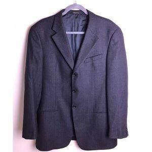 Armani Collezioni Navy/Black Wool Suit Jacket 42L